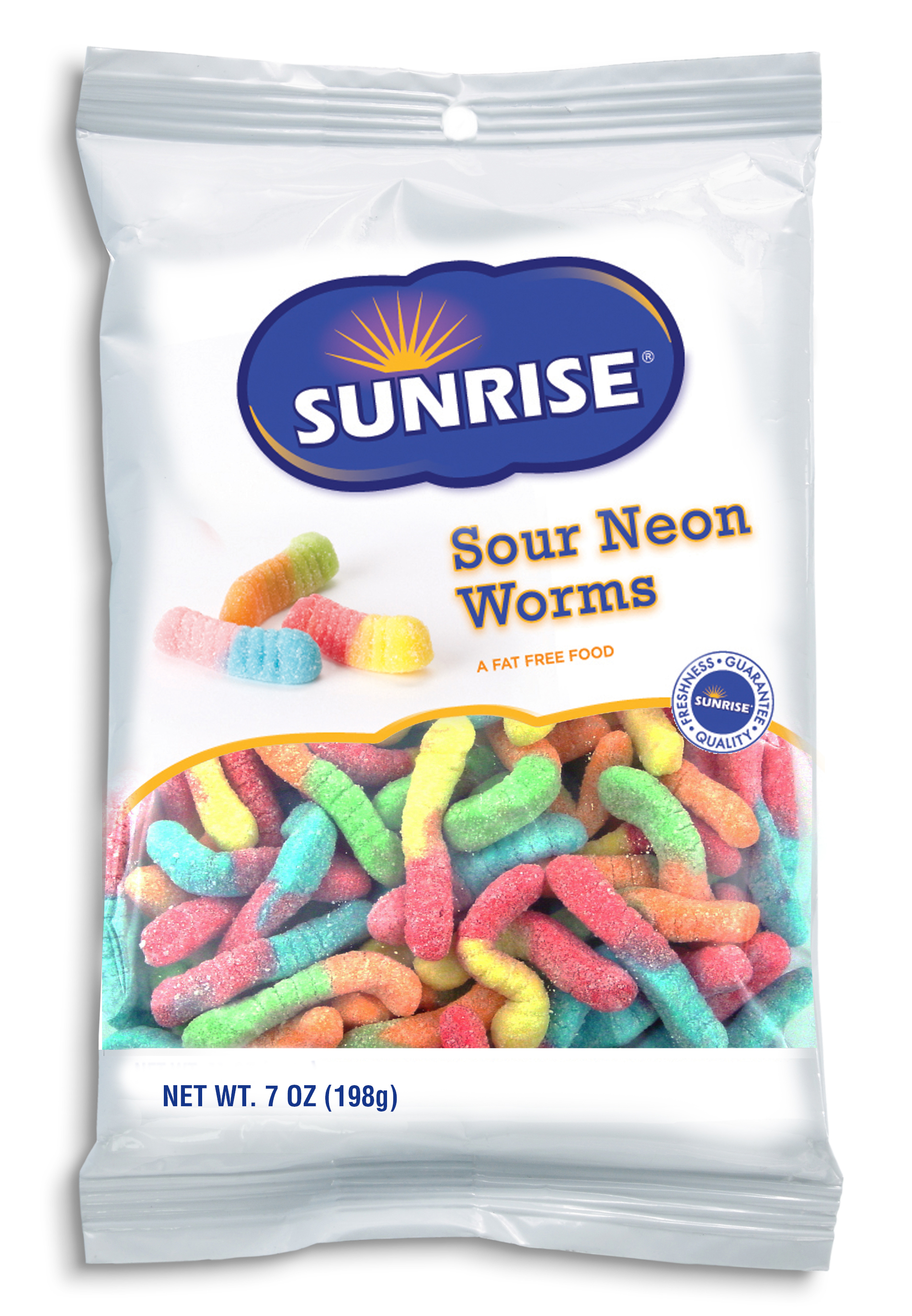 Bag of Sour Neon Gummi Worms